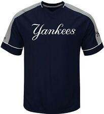 New York Yankees MLB Majestic Mens Lead Hitter Jersey Navy Big & Tall Sizes