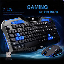 Gaming wireless 2.4G Keyboard +Mouse To computer Multimedia Gamer клавиатура lot
