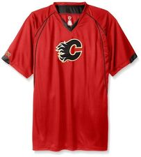 Calgary Flames NHL Mens Moist Management Legacy Jersey Red Big & Tall Sizes