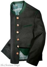 Ziller German Austrian Men's Sport Coat Jacket - Black / Charcoal - Wool