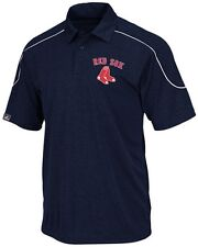Boston Red Sox MLB Majestic Mens Run Down Synthetic Polo Shirt Big & Tall Sizes