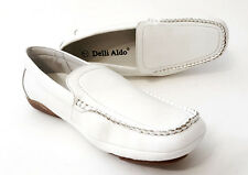 M3 - 18135 DELLI ALDO ITALIAN STYLE CASUAL DRESS SHOES WHITE  MEN SIZE