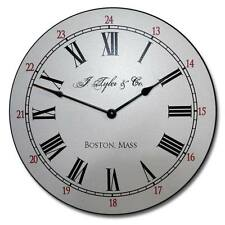 "Large wall Clock, Boston Wall Clock 10""- 48"" Whisper Quiet, Non-Ticking"