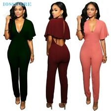 WOMEN JUMPSUITS ROMPERS SKINNY SUMMER SEXY CLOTHES OVERALLS CLUB CASUAL VINTAGE