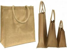 WHOLESALE JUTE REUSABLE ECO SMALL, MEDIUM, LARGE SHOPPING BAGS