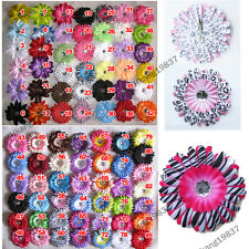 lot hair accessory baby girl peony ZEBRA Daisy flower Hair Clip kids accessories