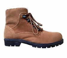 Mens Womens Cotton Traders Sherpa Hiking Walking Trekking Boots Lace Up Shoes