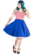 Dolly & Dotty Pin Up Retro Anita 50's Rockabilly Swing Dress Gingham Vintage