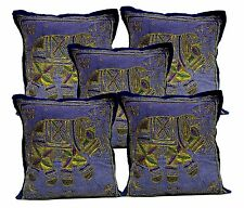 5pcs-100Pcs Jari Embroidered Work Cushion Covers Wholesale Lot From India