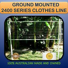 CLOTHESLINE GROUND MOUNTED Australian made 2400mm X 1500mm  fold clothes line