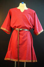 Medieval-LARP-SCA-Re-enactment-Mens-LIGHT RED WOOLEN TUNIC One Size