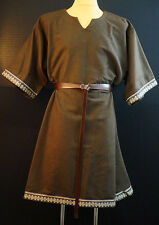 Medieval-LARP-SCA-Re-enactment-Mens-RICH BROWN BRAIDED WOOLEN TUNIC One Size