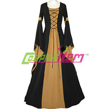 Womens Medieval Victorian Renaissance Gothic Dress Costume For Fantasy Halloween