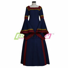 Navy Blue Medieval Victorian Renaissance Gothic Dress Plus Size Custom