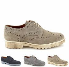 Scarpe oxford man suede blue beige grey oxford shoes low vintage ITALY