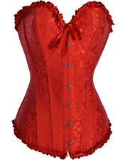 SEXY CORSET CORSET BUSTIER VICTORIAN RED THONG LINGERIE SEVERAL SIZES 5085-3