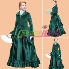 Green Civil War Ball Gown Dress Adult Southern Belle Dress Halloween Costume