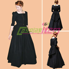 Victorian Gothic Civil War Southern Belle Ball Gown Dress Halloween Costume