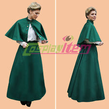 Green 1860s Victorian Gothic Civil War Southern Belle Ball Gown Dress Costume