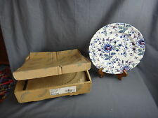 4 Johnson Brothers ROSE CHINTZ BLUE Dinner Plates ~NEW IN BOX~