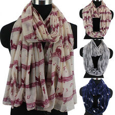 Musical Note&Cat Animal Print Womens Scarf Fashion Scarf Long/Infinity Scarf New