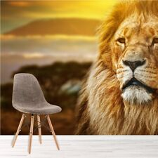 Lion In African Savannah Landscape Animal Wall Mural Nature Photo Wallpaper