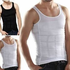 SLIMMING TANK TOP Mens Body Shaper Compression Vest Top Singlet Black White