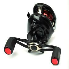 Black Low Profile Fishing Reel Baitcast Reel Left / Right Hand 13BB Mag Brake