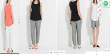COUNTRY ROAD Trenery 90% linen STITCH DETAIL TANK tshirt' tee top RRP $59.95