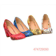 Hollow Party Heels Pumps Leather Girls Open Womens Ladies Shoes AU SIZE YD1103
