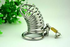 New High quality Male Chastity Device Bird Lock Stainless Steel Cock Cage EL01