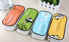 Cartoon PU Student Pen Bag Pencil Case Brush Cosmetic Makeup storage Pouch Box