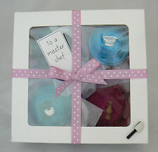 Ladies Sock Cupcakes In Gift Box. Cooking/Baking/Chef Theme. Cotton Rich Socks