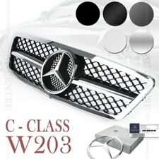 (5 Colors) Front Mesh Grille AMG Style for Mercedes-Benz C Class W203 2000-06