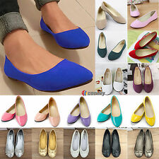Womens Suede Boat Shoes Casual Slip On Flats Pumps Loafers Ballet Office Shoes