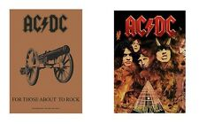 AC/DC ACDC - FOR THOSE ABOUT TO ROCK / HIGHWAY - OFFICIAL TEXTILE POSTER FLAG