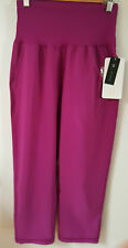 lululemon pant tranquil crop plum relaxed fit great for pilates,yoga or fitness