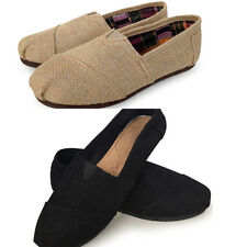 New Unisex Breath Linen Shoes Leisure Solid Shoes Flat Canvas Women' Men' Shoes