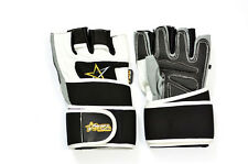 Men's Weight Lifting Gym Workout Gloves Leather Fitness Exercise RFA