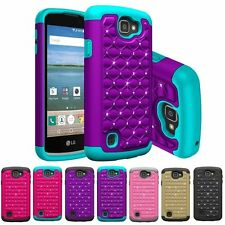 For LG Optimus Zone 3 / K4 / Spree Hybrid Hard Diamond Case Skin Phone Cover