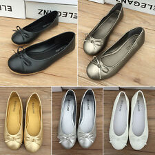 New Women Bow Flats Dolly Shoes Ballet Ballerina Work Party Summer Pumps Loafers