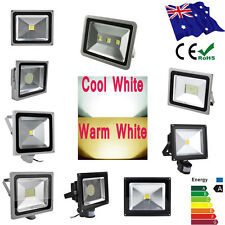 300W-10W LED Flood Light Cool Warm PIR Sensor Outdoor Floodlight Garden Lamp AU