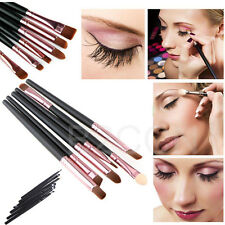 Pro 6Pcs Cosmetics Makeup Brushes Set Eyeshadow Eyeliner Nose Lip Brush Tool Kit