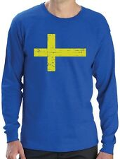 Sweden Flag Vintage Style Retro Swedish Long Sleeve T-Shirt Gift Idea