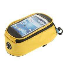 Cycling Bicycle Bike Waterproof Frame Pannier Front Mobile Phone Bag Case 4.8""