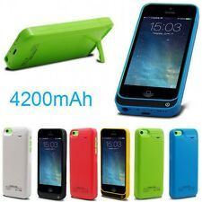 4200mAh External Power Bank Charger Pack Backup Battery Case for iphone 5G 5S 5C