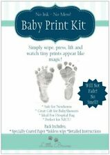 Baby Inkless Print Kit~Tiny hand and footprints in black,pink & blue extra paper