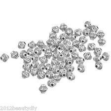 Wholesale Silver Tone Bicone Spacer Beads 6x6mm