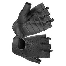HUGGER Mesh Breathabl Fingerless Motorcycle gloves Gel Padded Palm Summer Riding