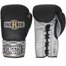 Ringside Boxing Ultimate Pro Fight Gloves - Black / Silver
